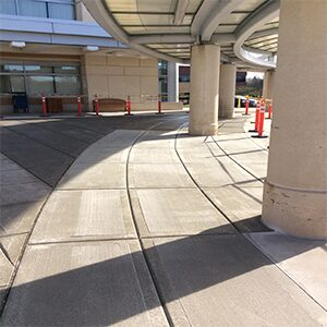 Concrete maintenance services for commercial properties.