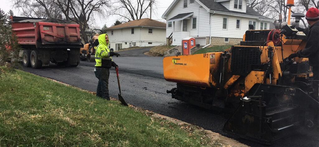 Construction equipment yard maintenance position job opening at Pavement Solutions, LLC.